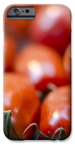 Red Tomatoes at the Market iPhone Case by Heather Applegate