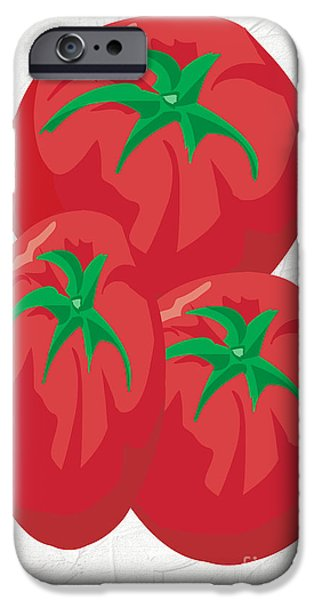 Multimedia iPhone Cases - Red Tomatoes iPhone Case by Tina M Wenger