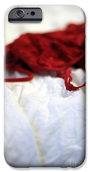 Bed Linens iPhone Cases - Red iPhone Case by Trish Mistric
