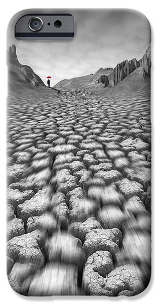 Red Umbrella iPhone Case by Mike McGlothlen