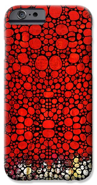 Buying Online Digital Art iPhone Cases - Red Valley - Abstract Landscape Stone Rockd Art iPhone Case by Sharon Cummings