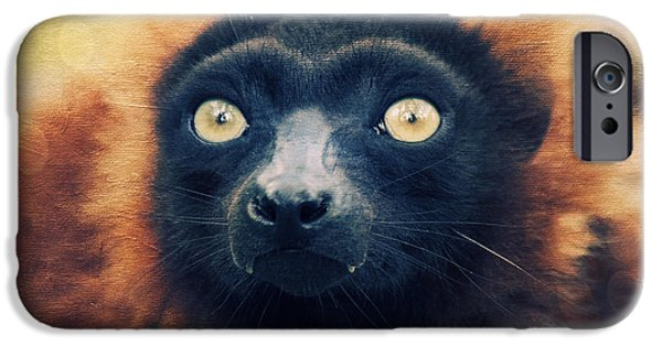 Animal Photography Mixed Media iPhone Cases - Red Vari iPhone Case by Angela Doelling AD DESIGN Photo and PhotoArt