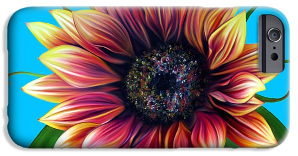 Plant Pastels iPhone Cases - Red Velvet iPhone Case by Laura Bell