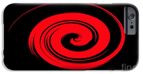 Business Digital iPhone Cases - Red Whirlpool iPhone Case by Linsey Williams