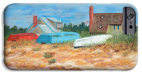 Cape Cod Pastels iPhone Cases - Red White and Blue iPhone Case by Claire Norris