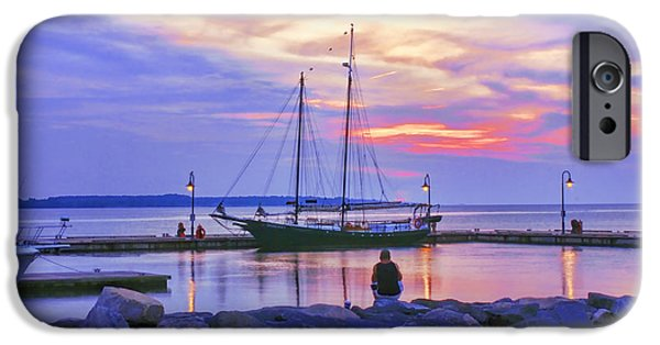 Yorktown Virginia iPhone Cases - Red White and Blue Dawn  iPhone Case by Olahs Photography