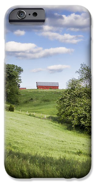 Tn Barn iPhone Cases - Red White and Blue iPhone Case by Heather Applegate