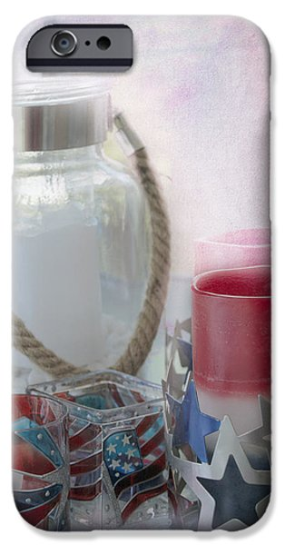 Red White and Blue iPhone Case by Judy Hall-Folde