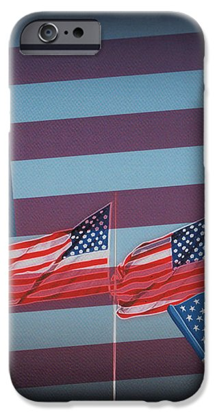 Red White And Blue iPhone Case by Kay Novy