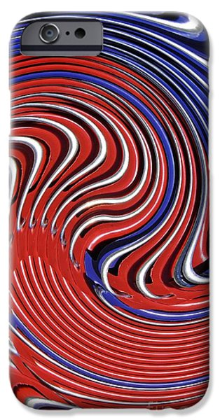 Fourth Of July iPhone Cases - Red White and Blue iPhone Case by Sarah Loft