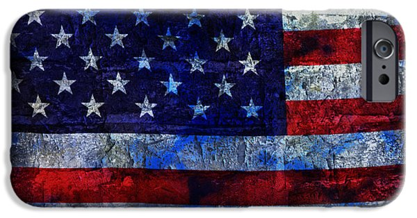 Old Glory iPhone Cases - Red White And Blues iPhone Case by John Stephens