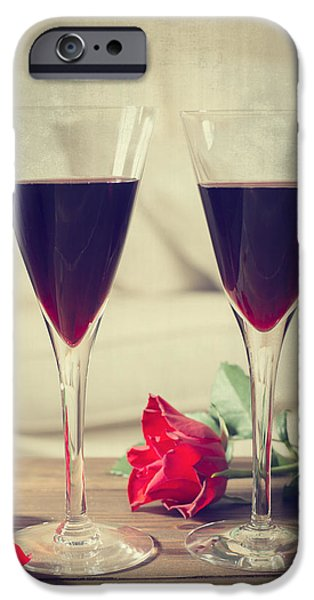 Red Wine And Roses iPhone Case by Amanda And Christopher Elwell