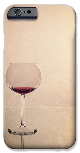 Texture iPhone Cases - Red Wine iPhone Case by Edward Fielding