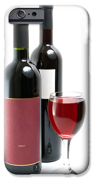 Table Wine iPhone Cases - Red wine iPhone Case by Sinisa Botas