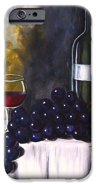 Table Wine iPhone Cases - Red Wine iPhone Case by Teresa  Pascos