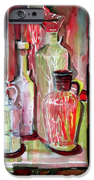 Red Wine Vinegar iPhone Case by Mindy Newman