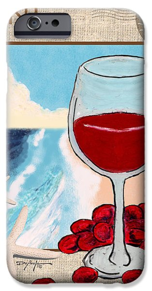 Red Wine Pastels iPhone Cases - Red Wine iPhone Case by William Depaula