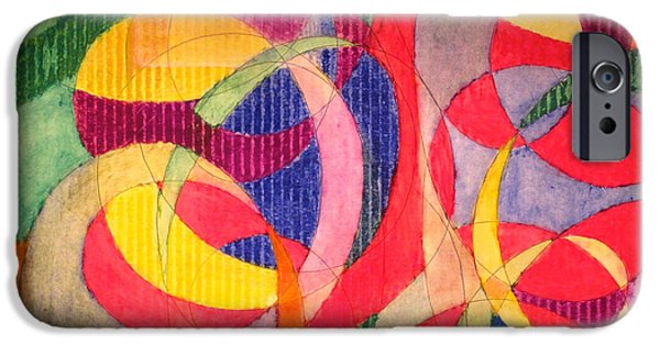Organic Pastels iPhone Cases - Red with a Twist iPhone Case by Steve Sommers