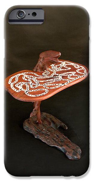 Furniture Sculptures iPhone Cases - RedBack Dragon iPhone Case by Alon Shepherd