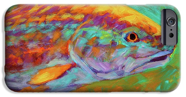 Redfish iPhone Cases - RedFish Portrait iPhone Case by Mike Savlen