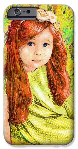 Little iPhone Cases - Redhead iPhone Case by Jane Schnetlage