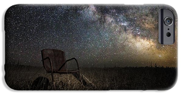 Towns Digital Art iPhone Cases - Redneck Planetarium iPhone Case by Aaron J Groen