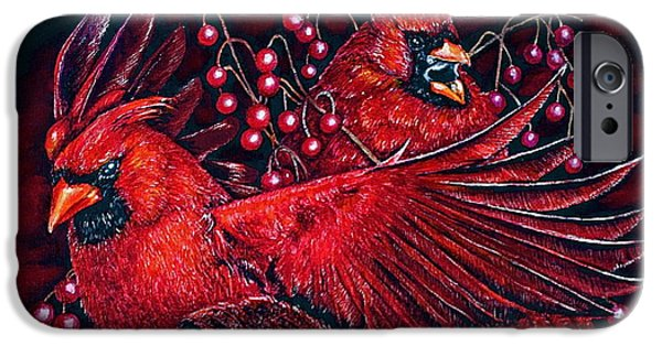 Soaring Paintings iPhone Cases - Reds iPhone Case by Linda Simon