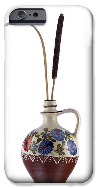 Tankard iPhone Cases - Reed In The Vase iPhone Case by Michal Boubin