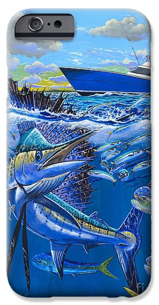 Sailfish Paintings iPhone Cases - Reef sail OFF00151 iPhone Case by Carey Chen