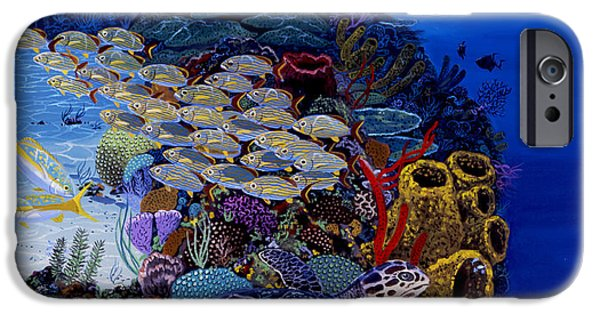 Kemp iPhone Cases - Reefs Edge Re0025 iPhone Case by Carey Chen