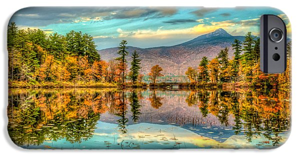 Mt Chocorua iPhone Cases - Refection of Mt Chocorua iPhone Case by Joe  Martin