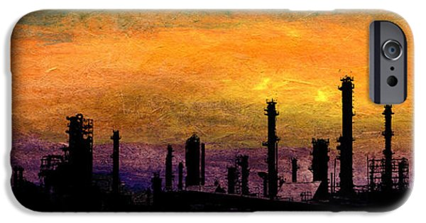 Lpg iPhone Cases - Refinery iPhone Case by R Kyllo