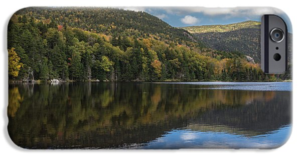 White Mountains iPhone Cases - Reflected in the white mountains iPhone Case by Chris Fletcher