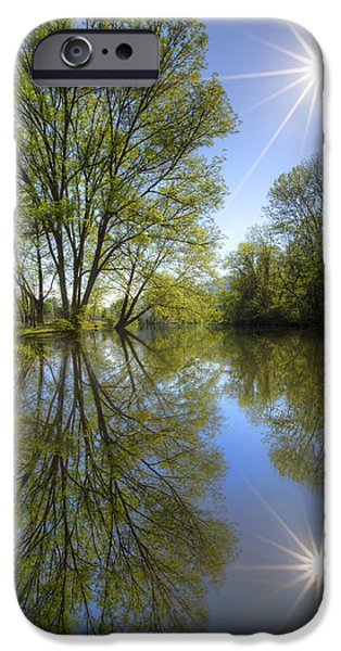 Oak Creek iPhone Cases - Reflected Star iPhone Case by Debra and Dave Vanderlaan