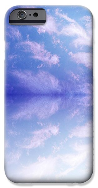 Clouds Tapestries - Textiles iPhone Cases - Reflecting 1 iPhone Case by Debra Montoya