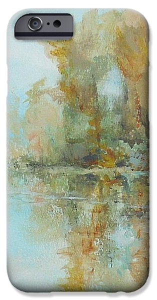 Reflecting on Reflections iPhone Case by Elizabeth Crabtree