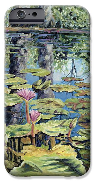 Reflecting Pond iPhone Case by Danielle  Perry