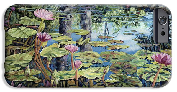 Lilly Pads iPhone Cases - Reflecting Pond iPhone Case by Danielle  Perry