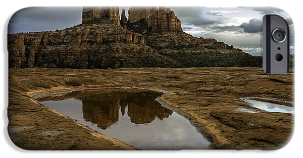 Recently Sold -  - Sedona iPhone Cases - Reflecting Pool iPhone Case by Brian Oakley Photography