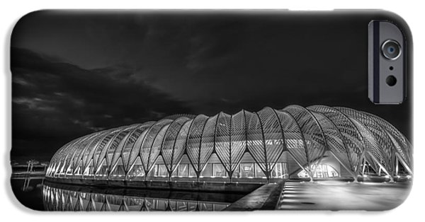Technical Photographs iPhone Cases - Reflecting The Future-bw iPhone Case by Marvin Spates