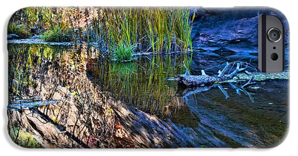 West Fork iPhone Cases - Reflection in the Water iPhone Case by Brian Lambert