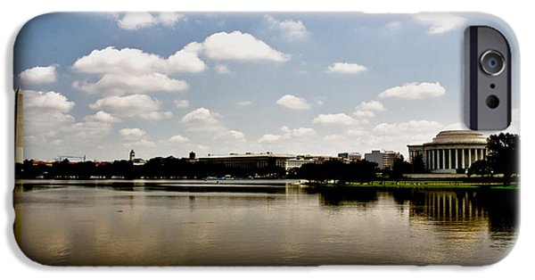 D.c. iPhone Cases - Reflection in Washington iPhone Case by Tom Gari Gallery-Three-Photography