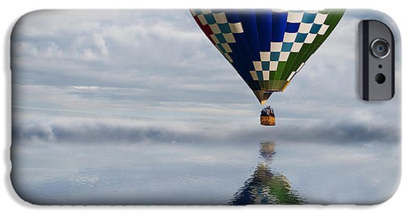 Hot Air Balloon iPhone Cases - Reflection iPhone Case by Juli Scalzi