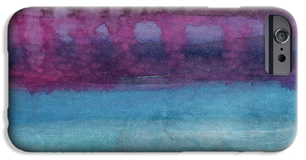 Abstract Seascape iPhone Cases - Reflection iPhone Case by Linda Woods