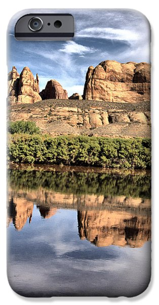Red Rock Jewelry iPhone Cases - Reflection iPhone Case by Nena Trapp
