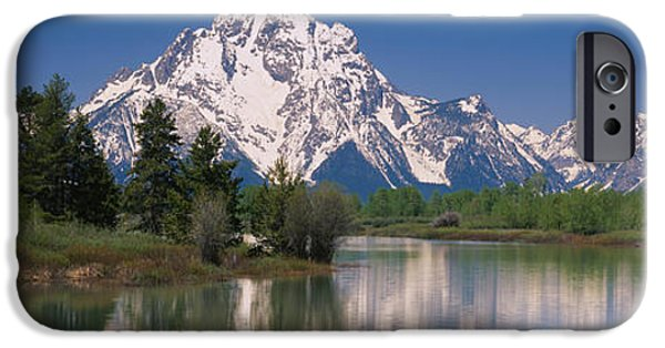 Mountain iPhone Cases - Reflection Of A Mountain Range iPhone Case by Panoramic Images