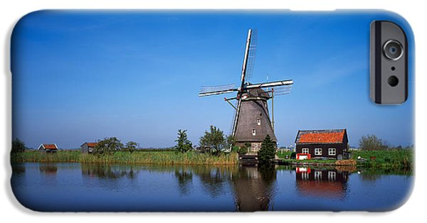 Power iPhone Cases - Reflection Of A Traditional Windmill iPhone Case by Panoramic Images