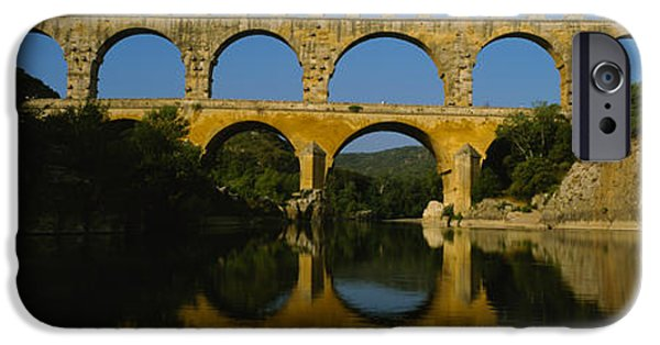 Languedoc iPhone Cases - Reflection Of An Arch Bridge iPhone Case by Panoramic Images