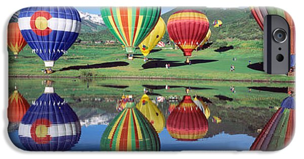 Hot Air Balloon iPhone Cases - Reflection Of Hot Air Balloons On iPhone Case by Panoramic Images