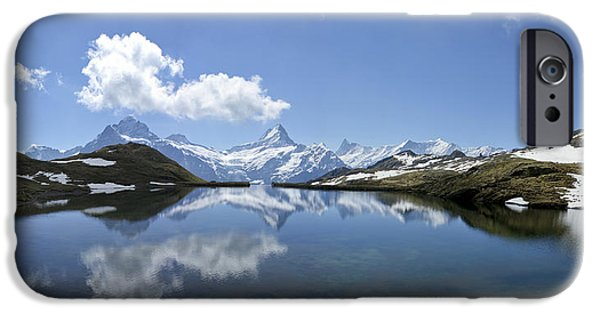 Grindelwald iPhone Cases - Reflection of Jungfrau in the Swiss Alps iPhone Case by Brian Kamprath